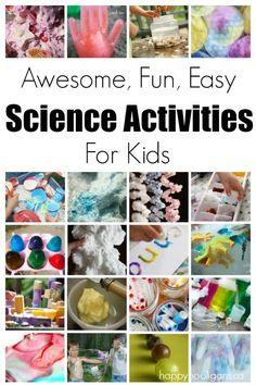 Fabulous (easy, inexpensive) science activities for kids to do at home or in the classroom.   They're all simple, fun and fascinating!  - Happy Hooligans home