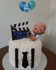 Baby Birthday Themes, Boss Birthday, 1st Birthday Party For Girls, Baby Birthday Cakes, Baby Party, Baby Cakes, Baby Cake Smash, Twins 1st Birthdays, Boss Baby