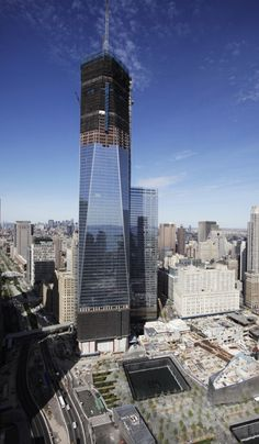 With beams added today - One World Trade Center (aka: The Freedom Tower) replaces the Empire State Bldg as the tallest in NYC.