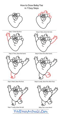 how to draw looney tunes step by step