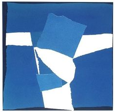 Sandra Blow RA, Blue Square Collage, 2003 | Porthminster Gallery
