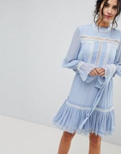 Buy Forever New Shirred Dress With Frill Hem at ASOS. With free delivery and return options (Ts&Cs apply), online shopping has never been so easy. Get the latest trends with ASOS now. Forever New, Shop Forever, Asos, Shirred Dress, Elastic Thread, Pattern Cutting, No Frills, Fashion Online, Latest Trends