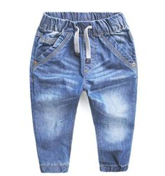 Girls jeans pants spring Autumn children's clothing jeans blue trousers casual pants Baby Children Pants