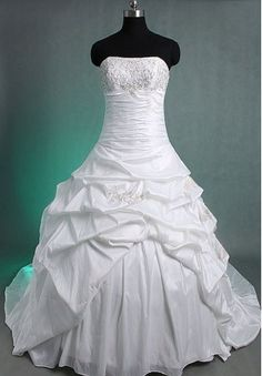 Taffeta Strapless Empire Elegant Wedding Dress. I love dresses with elegant beading on the bodice