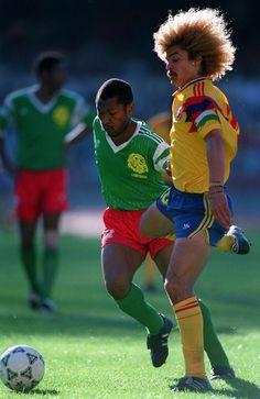 El Pibe ante Camerún en Italia 90