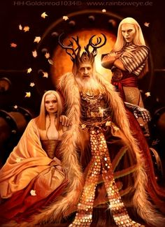 Hell boy, prince nuada, princess nuala, fantasy art
