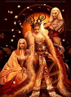 Hell boy, prince nuada, princess nuala, fantasy art