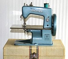 sewing-machine-toy... I had one exactlly like this with the case it sewed and I made a few things on it.....I gave it to my daughter and someone stole it from her.