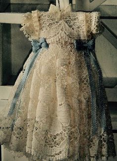 Miniature lace dress