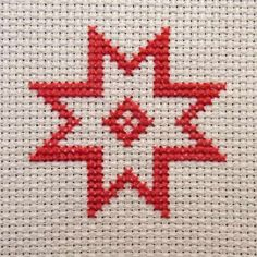 How to Make a Simple Scandi-Style Cross-Stitch Card. #FreeTutorial #CrossStitch