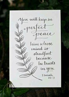 Perfect peace!