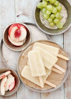 White Sangria Popsicles.