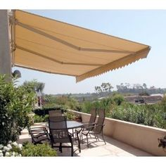 Retractable Awning Patio Awning Solid Beige Color Canopy Tent RV Tent Canopies   eBay