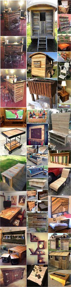 creative wood pallet reusing ideas