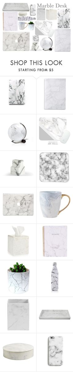"""""""Marble Desk"""" by tamara-40 ❤ liked on Polyvore featuring interior, interiors, interior design, home, home decor, interior decorating, Denik, Atipico, Agent 18 and Hotel Collection"""