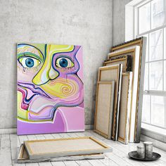 Abstract Portrait, Abstract Face, Abstract Figure, #art #painting @EtsyMktgTool #abstractportrait #abstractface #abstractfigure