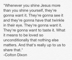 """Quote from Colton Dixon's """"ransomed"""" video."""