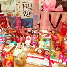 Mystery bundle!!!❤️ Each $25 mystery bundle will have $50 worth of products in it!❤️ Everything is brand new! Your bundle could include the following: Victoria secret body spray, Bath and body works lotion, PINK body spray, Bath and body works shower gel, Bath and body works body spray, OPI or other brands of nail polish, Yankee candles, NYX or other name brands of make up, hand sanitizer, bath bombs, socks, candy, other beauty items ect. ❤️☀️ PINK Victoria's Secret Accessories