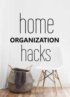 Whip your home into shape with these home organization hacks. Storage ideas, diy's & more!