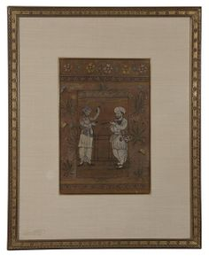 """A fine Indian watercolor from the early 20th century. CIRCA: Early 20th Century DIMENSIONS: 16.75"""" h x 13.5"""" w PRICE: $1,100"""