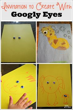 Invitation to Create with Googly Eyes - A fun, open ended art activity for kids!