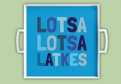 12x12 inch Melamine Chanukah Hanukkah Latke Latka Platter/Tray/Plate by BullCityStudio on Etsy https://www.etsy.com/listing/210825914/12x12-inch-melamine-chanukah-hanukkah