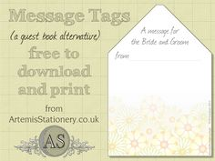 Free download Wedding stationery - message card
