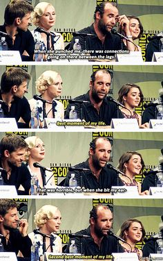 Gwendoline Christie and Rory McCann - Game of Thrones GIF - www.gifsec.com