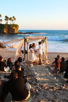 Romantic Santa Barbara Weddings Destination Weddings, Beach Weddings SBCelebrations.com 4 post wedding arbor