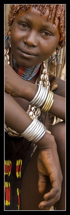 Hamar girl . Ethiopia