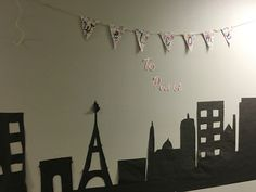Welcome to Paris . ALL AROUND THE WORLD HALL DECS. travel hall decorations theme.