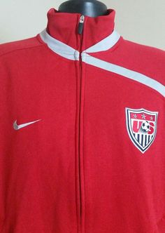 EUC XL Nike USA Soccer World Cup Full Zip Jacket Coat U.S. Donovan Red Official #Nike #USA