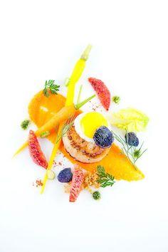 Scallops & Carrots  Zum Ideen zu holen, wie man auch veganes essen anrichten kann
