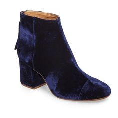 Women's Madewell Glenda Bootie ($210) ❤ liked on Polyvore featuring shoes, boots, ankle booties and night vision velvet
