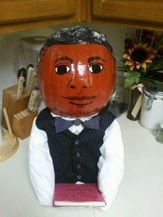 History Pumpkin Project - Famous Alabamians Booker T. Washington