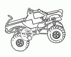 Scooby Doo Monster Truck Coloring Page For Kids Transportation Pages Printables Free