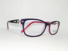 Óculos Pequeno Armação Acetato Feminino Tamanho 51 Roxo com rosa
