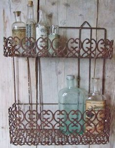 Old medicin bottles from pharmacies. So beautiful if you put them together.
