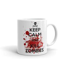 Keep Calm and Kill Zombies Mug, Coffee Mugs Funny Gifts Mugs Tea Cup 11OZ