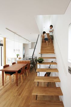 Doma Living House is a minimalist residence located in Ibaraki, Japan, designed by FCD Architects & Associates. Living Room Decor, Bedroom Decor, Zen House, Backyard Cottage, Loft Stairs, Narrow House, Cute House, Small House Design, Staircase Design