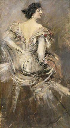 Signora-Bruna-in-Abito-Da-Sera-1892-94+Boldini.jpg (655×1191)