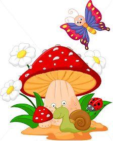 Stock vector of 'Vector illustration of Small animal cartoon' Animal Drawings, Cute Drawings, Mushroom Art, Cute Clipart, Cute Illustration, Fabric Painting, Rock Art, Cute Cartoon, Painted Rocks