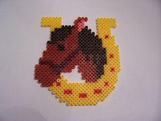 Horseshoe Pony - perler beads
