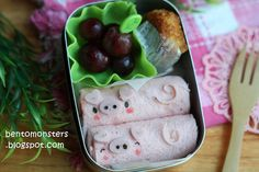 Piggy Roll ups  IMG_9156 by bentomonsters, via Flickr