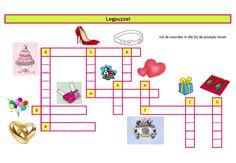 Puzzels bruiloft een leuke woordzoeker en legpuzzel om kinderen bezig te houden tijdens de receptie of diner - Creatief en Simpel - Download op onze site