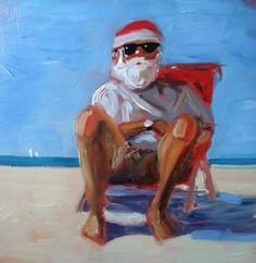 SantaBeach and RISD sale, painting by artist Debbie Miller