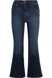 Carolina cropped high-rise flared jeans