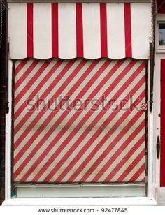 Butchers Shop Front Window Stock Photo 92477845 : Shutterstock