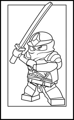 Lego Ninja Go Coloring Pages 2