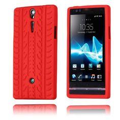Tire (Rød) Sony Xperia S Deksel